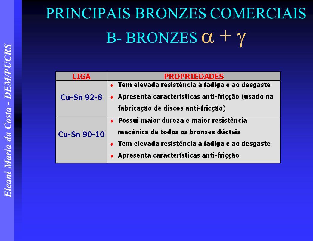 PRINCIPAIS BRONZES COMERCIAIS B- BRONZES  + 