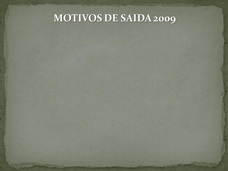 MOTIVOS DE SAIDA 2009