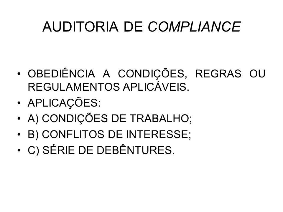 AUDITORIA DE COMPLIANCE