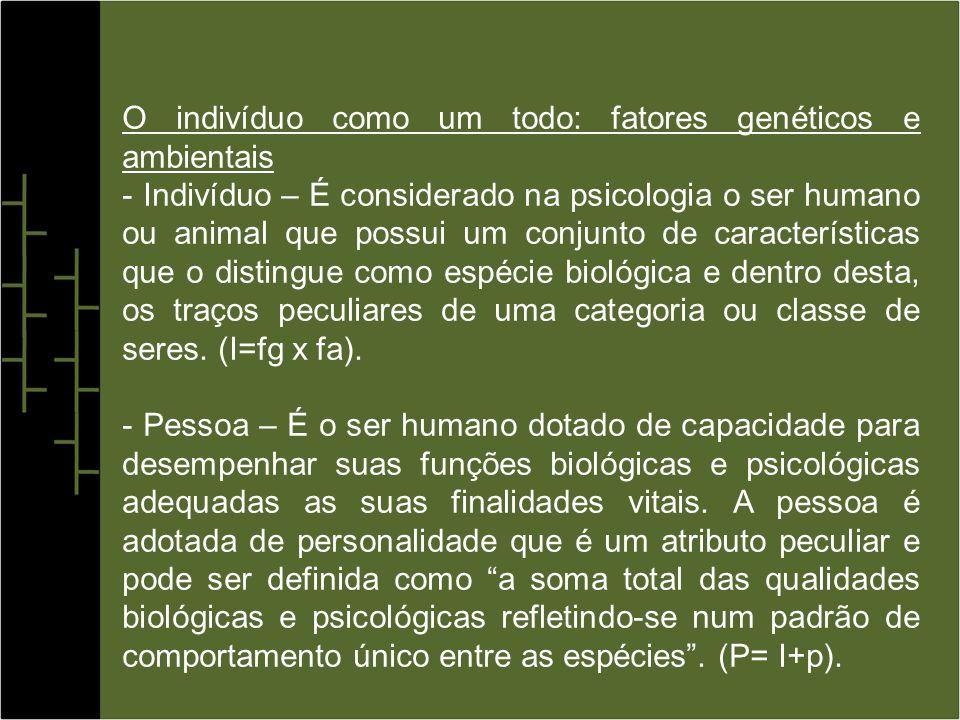 O indivíduo como um todo: fatores genéticos e ambientais