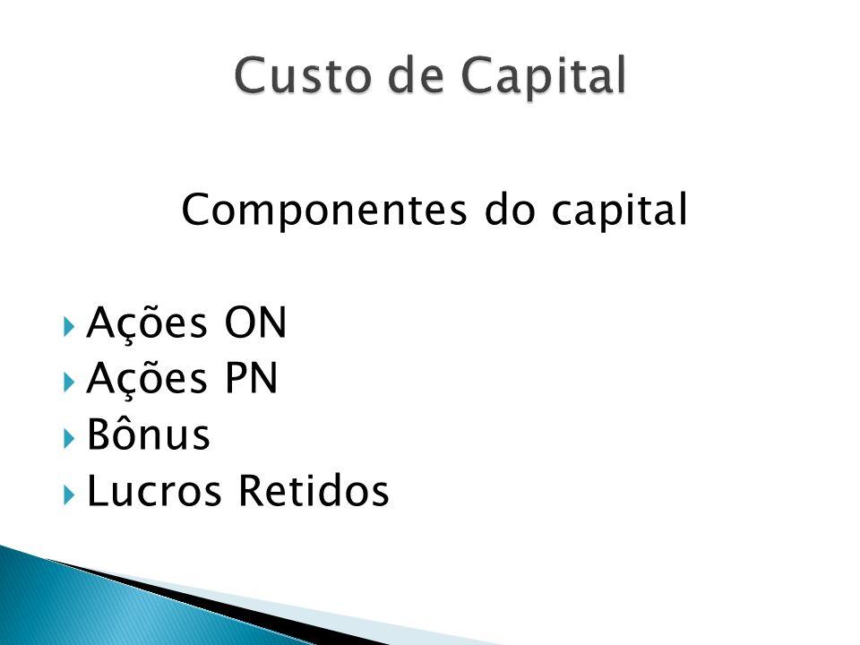 Componentes do capital