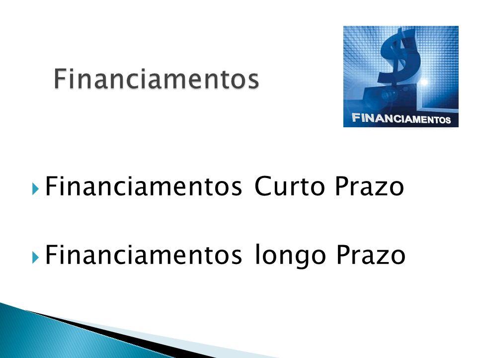 Financiamentos Financiamentos Curto Prazo Financiamentos longo Prazo