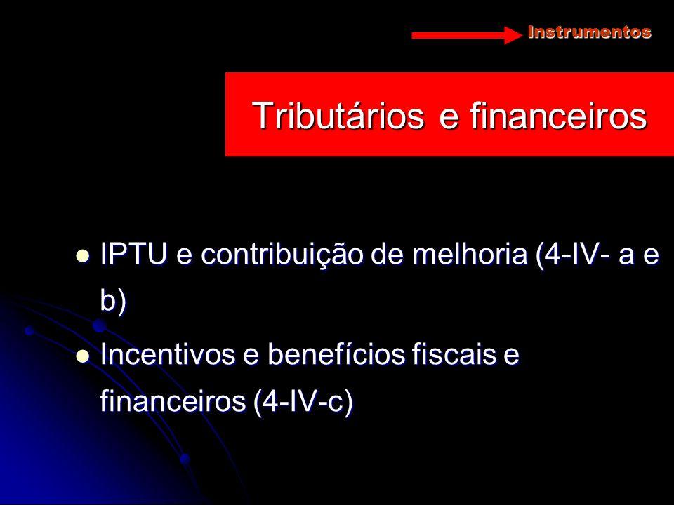 Tributários e financeiros