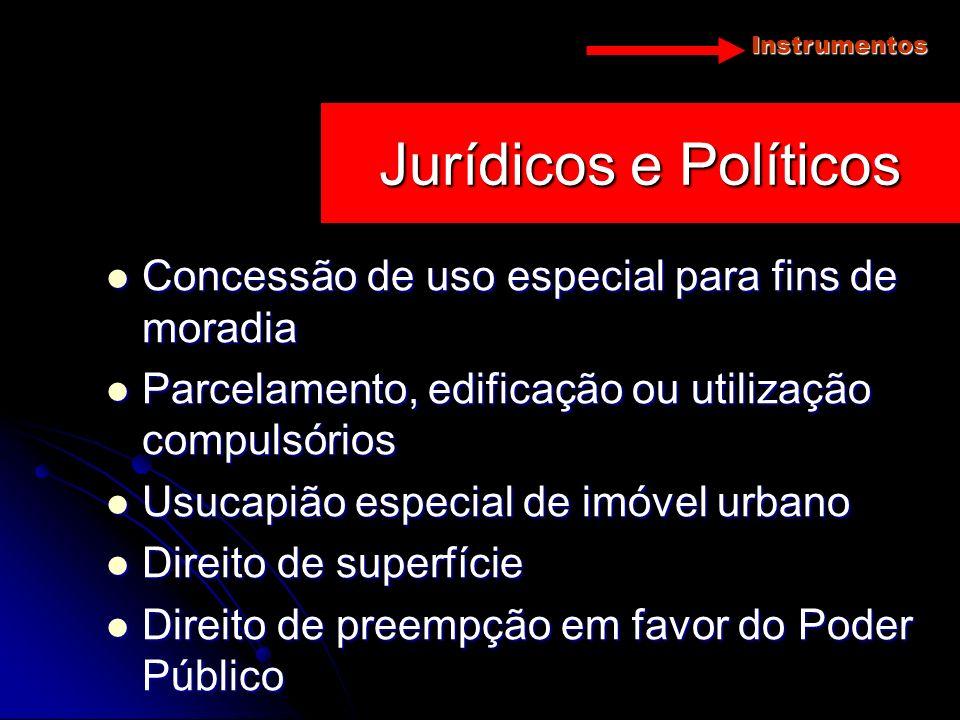Jurídicos e Políticos Concessão de uso especial para fins de moradia