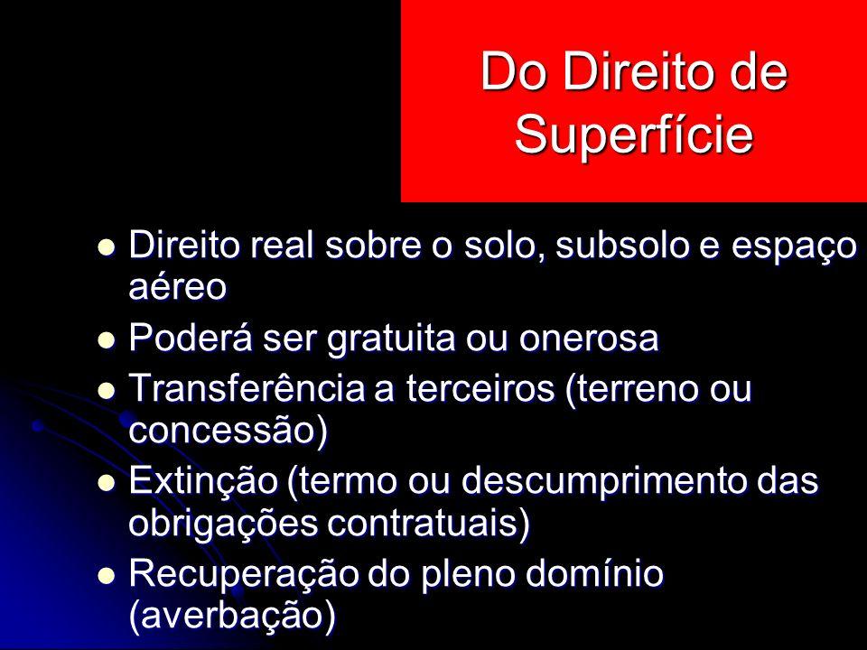 Do Direito de Superfície