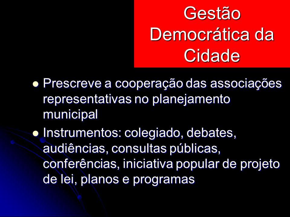 Gestão Democrática da Cidade
