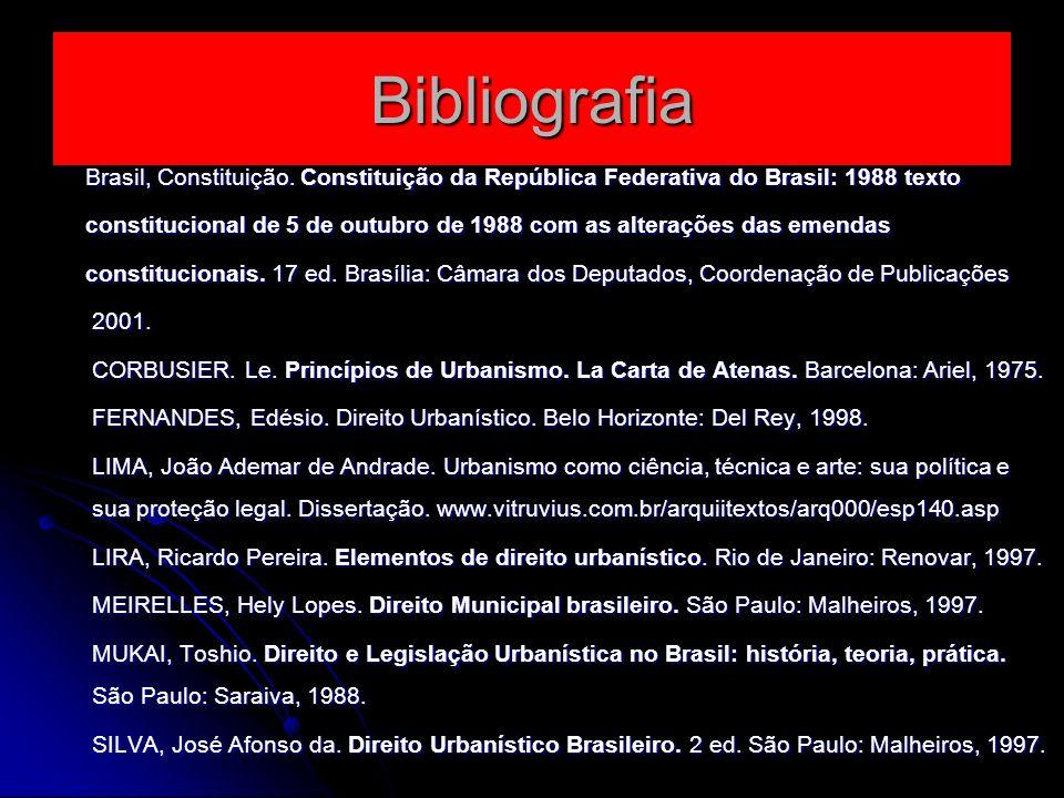 Bibliografia Brasil, Constituição. Constituição da República Federativa do Brasil: 1988 texto.