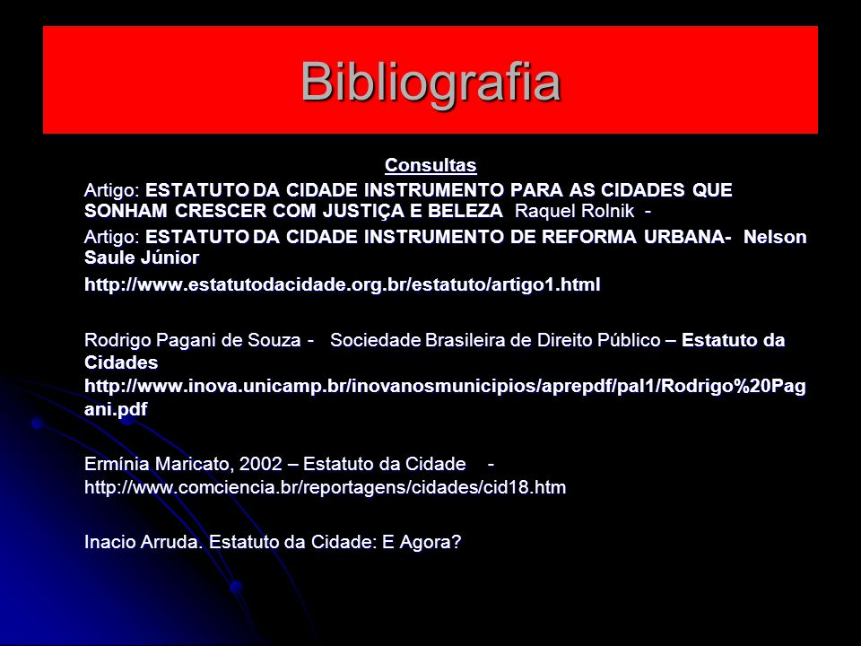 Bibliografia Consultas