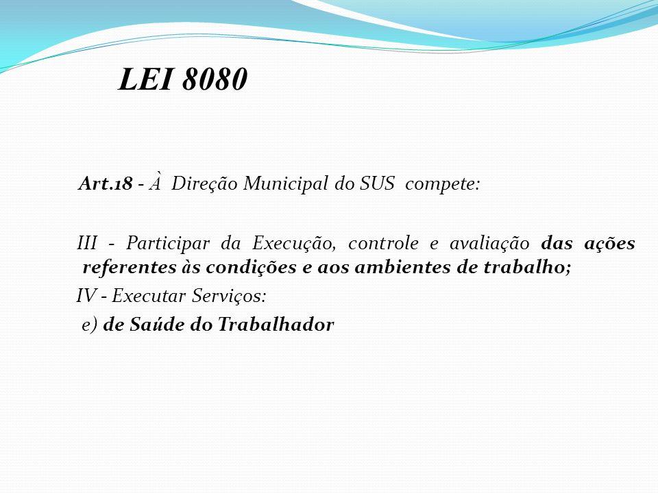 Art.18 - À Direção Municipal do SUS compete: