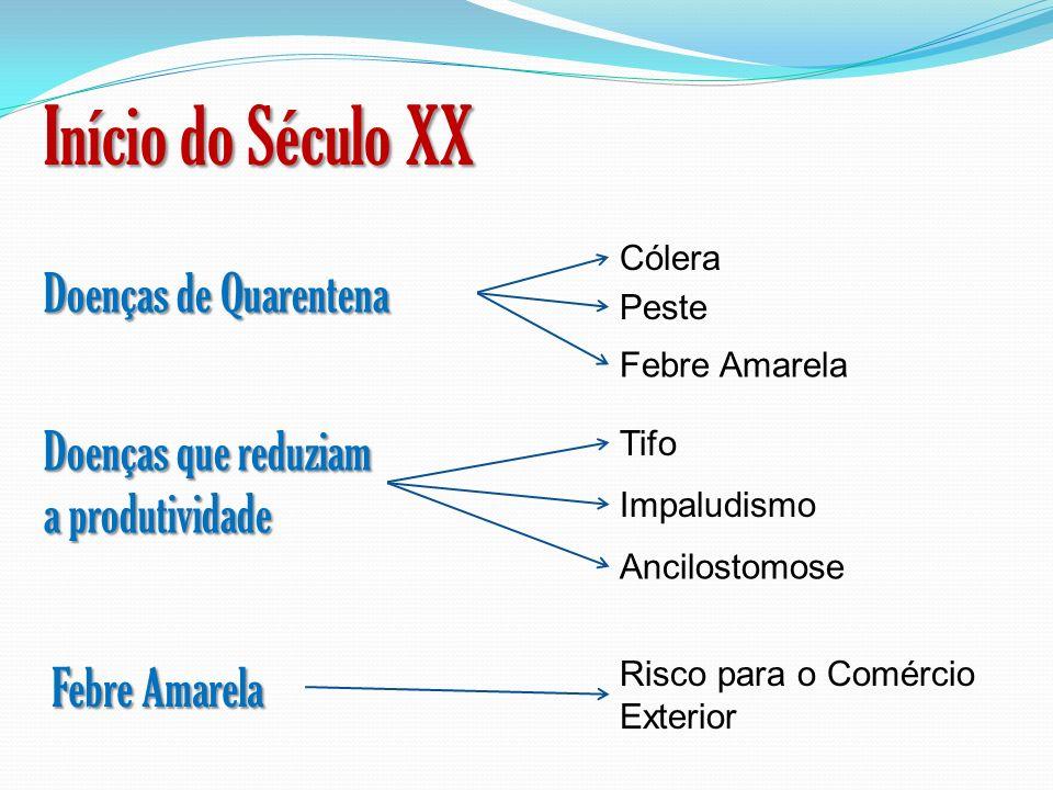 Início do Século XX Doenças de Quarentena
