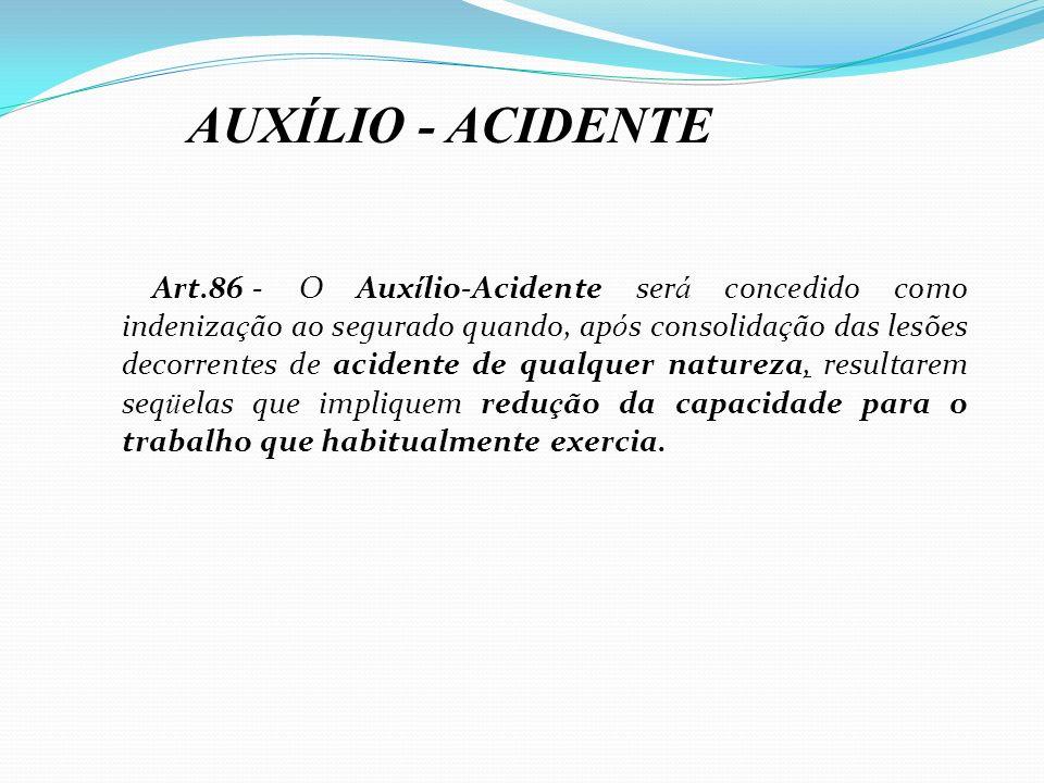 AUXÍLIO - ACIDENTE