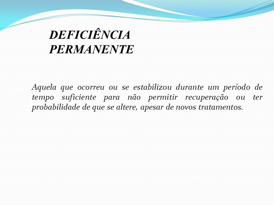 DEFICIÊNCIA PERMANENTE