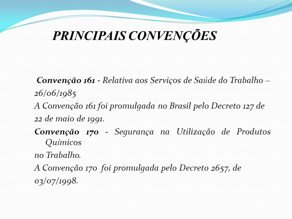 PRINCIPAIS CONVENÇÕES