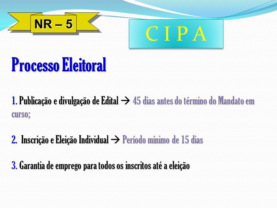 C I P A Processo Eleitoral NR – 5