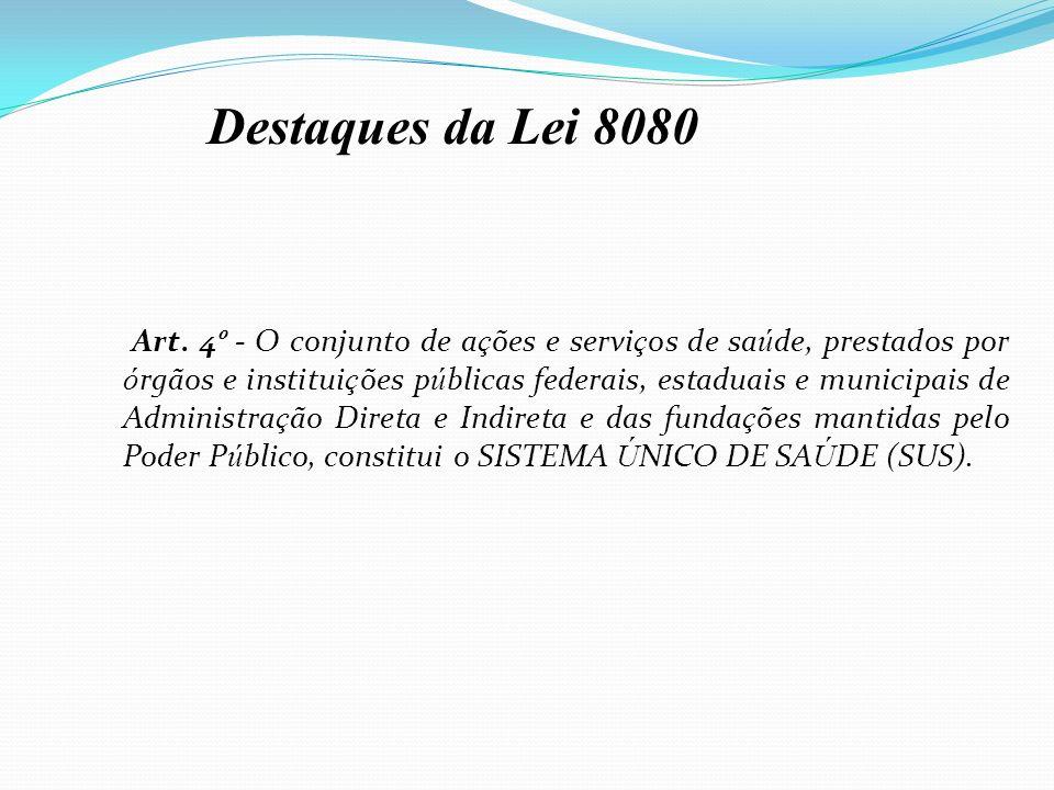 Destaques da Lei 8080