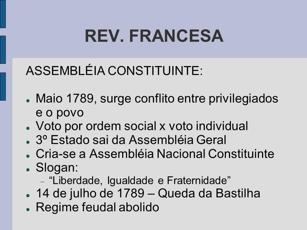 REV. FRANCESA ASSEMBLÉIA CONSTITUINTE:
