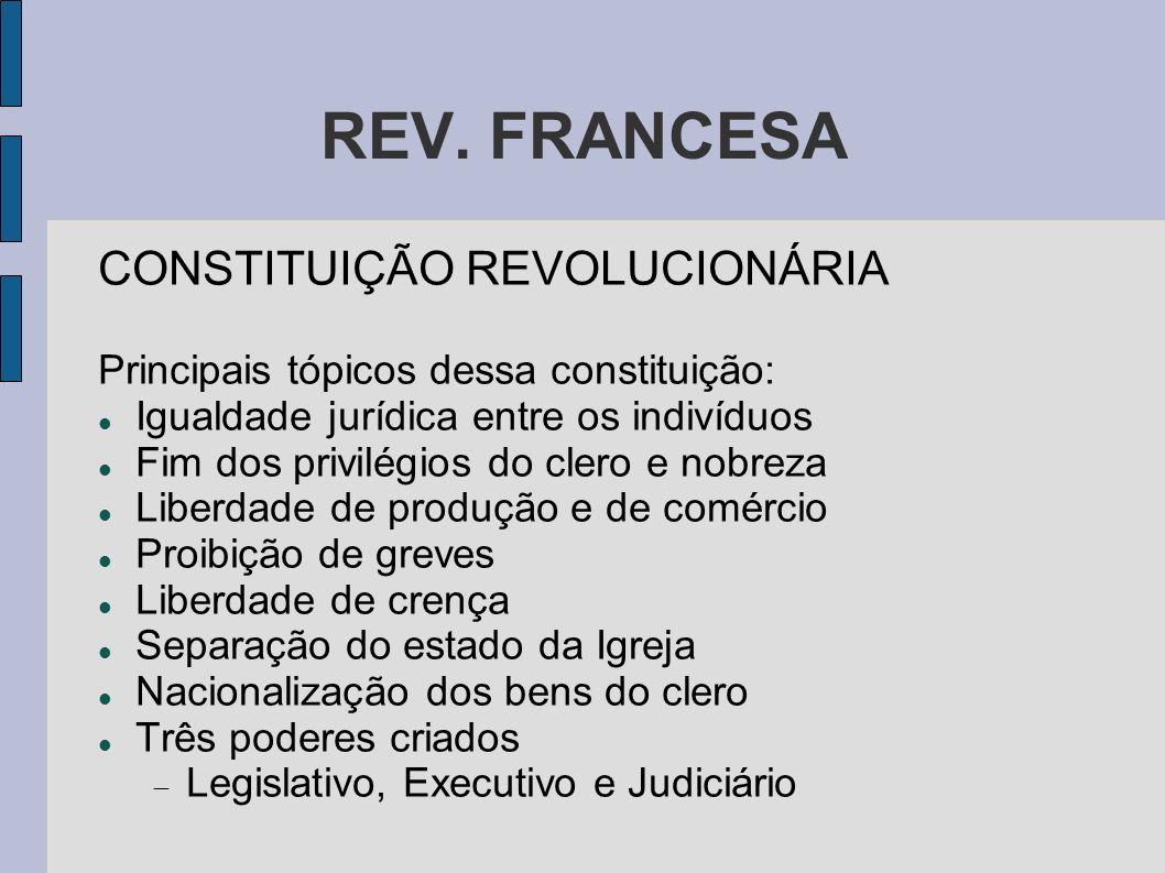 REV. FRANCESA CONSTITUIÇÃO REVOLUCIONÁRIA