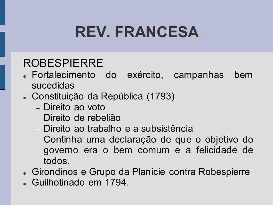 REV. FRANCESA ROBESPIERRE
