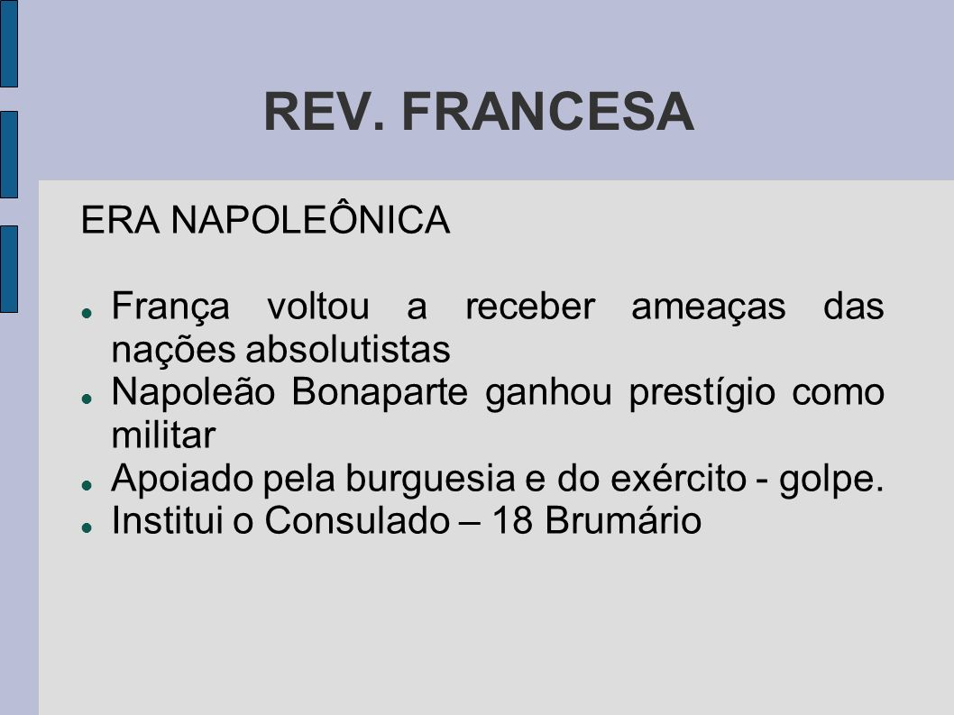 REV. FRANCESA ERA NAPOLEÔNICA