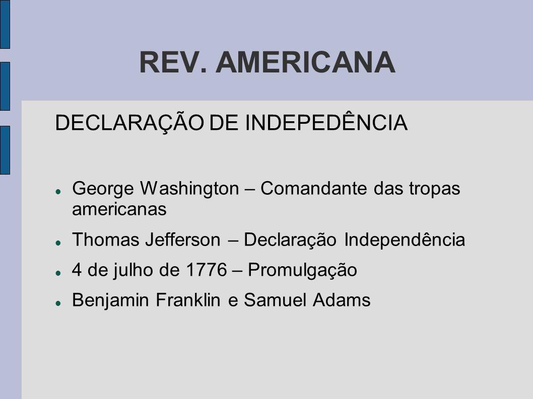 REV. AMERICANA DECLARAÇÃO DE INDEPEDÊNCIA
