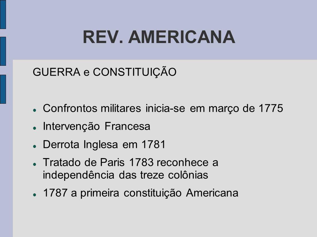 REV. AMERICANA GUERRA e CONSTITUIÇÃO
