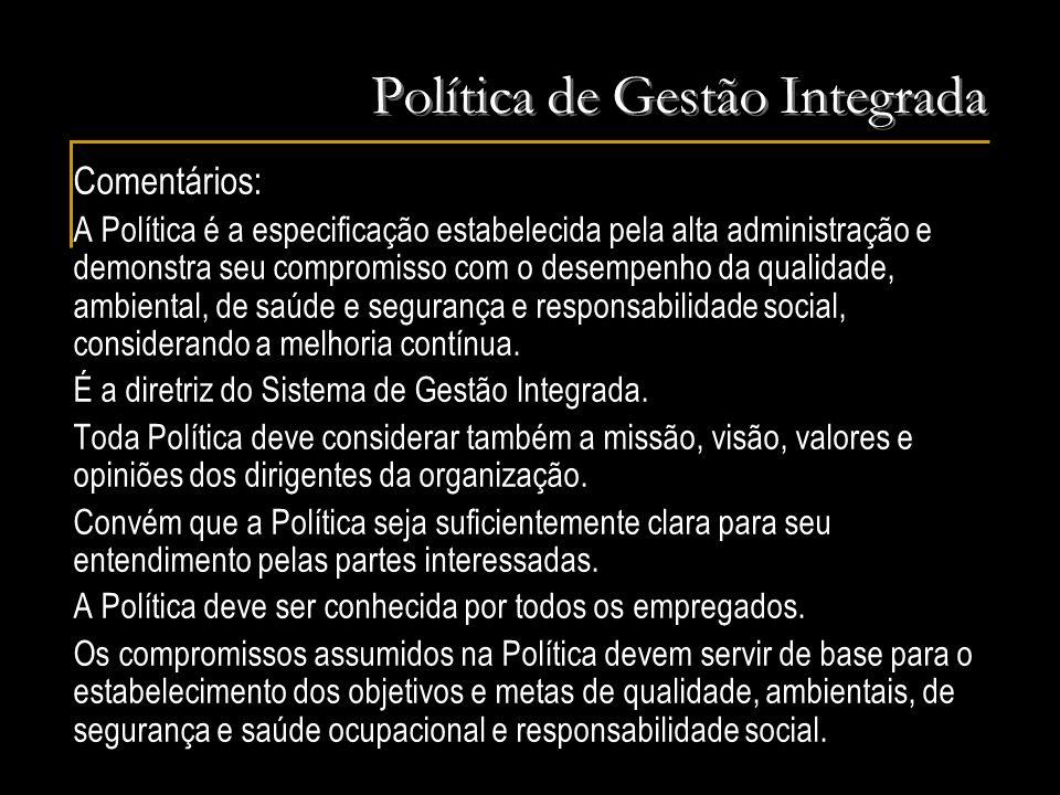 Política de Gestão Integrada