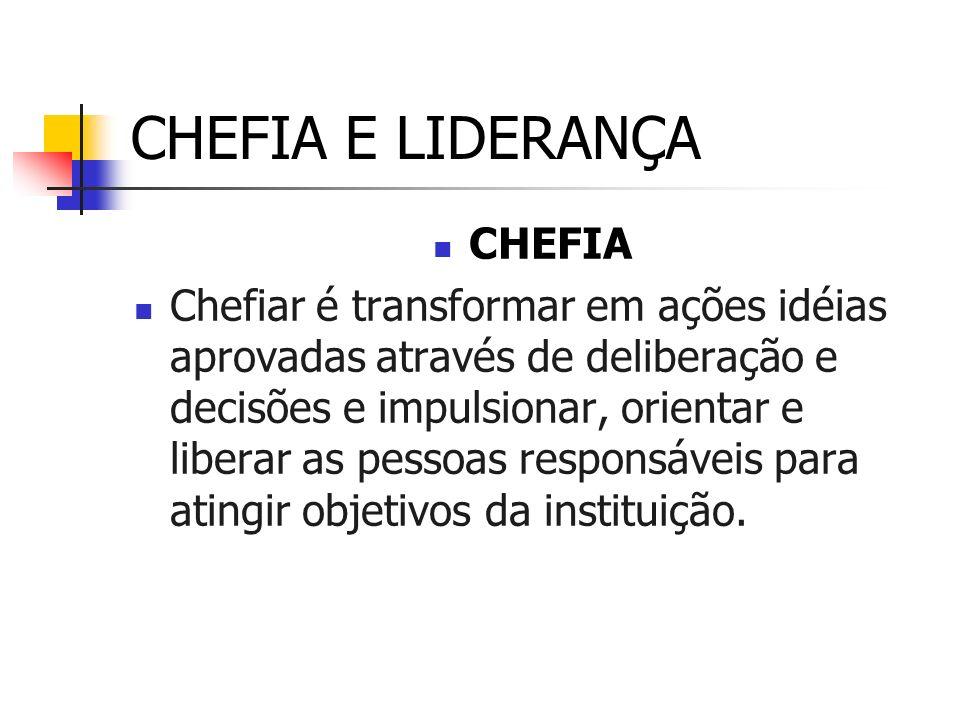 CHEFIA E LIDERANÇA CHEFIA