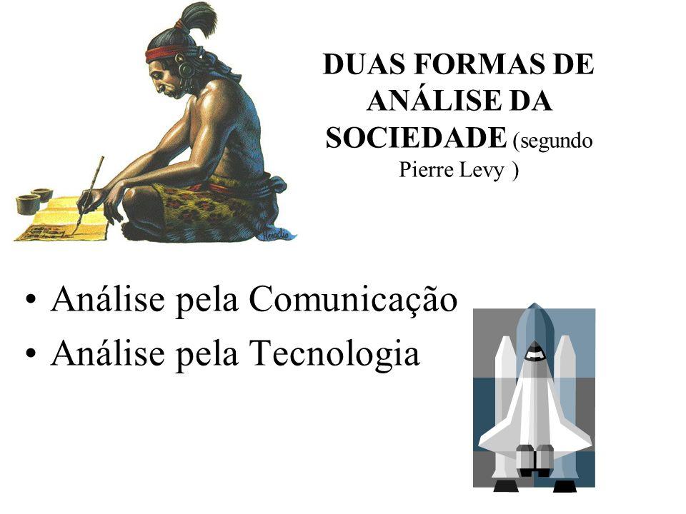 DUAS FORMAS DE ANÁLISE DA SOCIEDADE (segundo Pierre Levy )