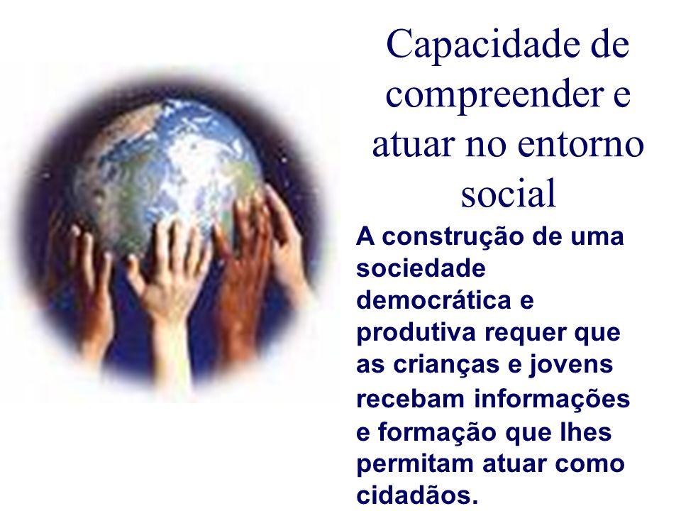Capacidade de compreender e atuar no entorno social