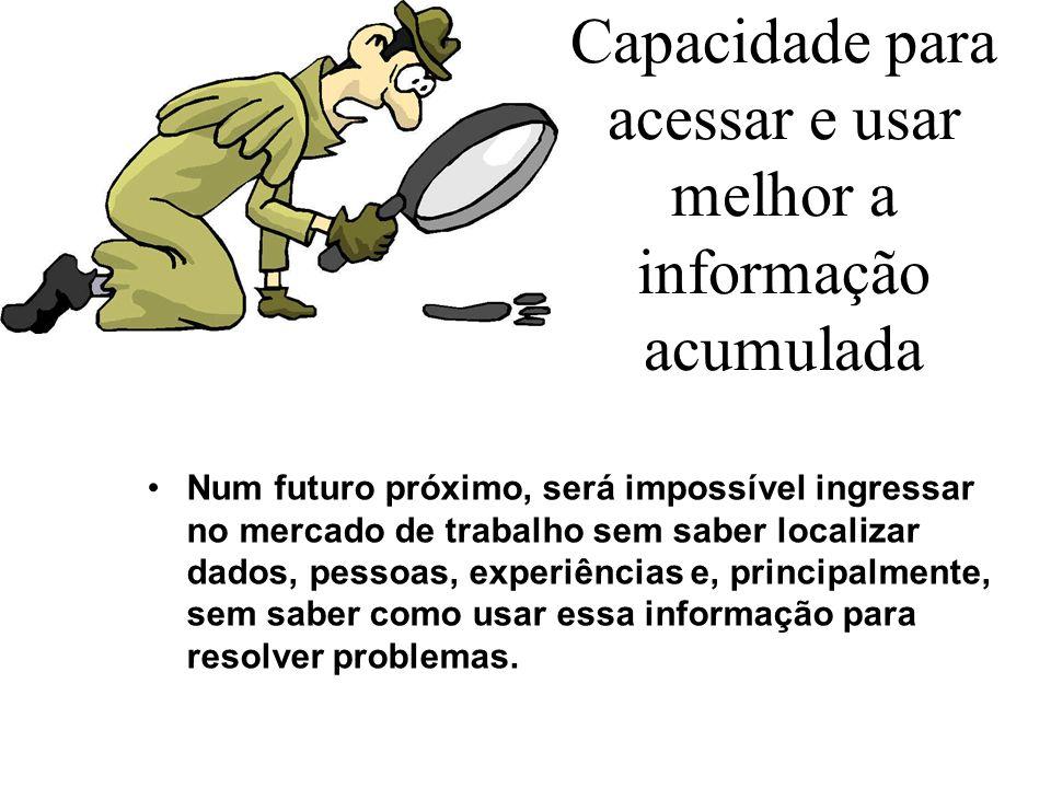 Capacidade para acessar e usar melhor a informação acumulada