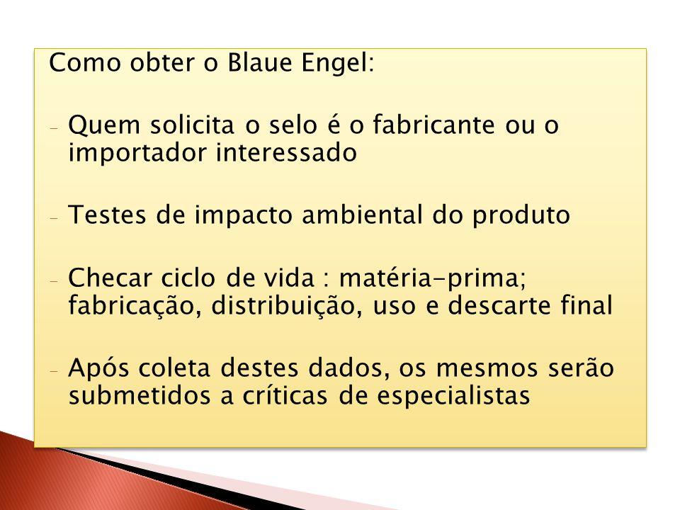 Como obter o Blaue Engel:
