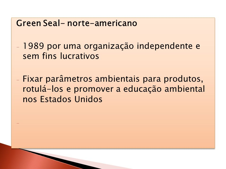 Green Seal- norte-americano