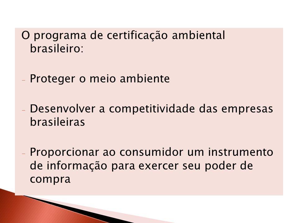 O programa de certificação ambiental brasileiro: