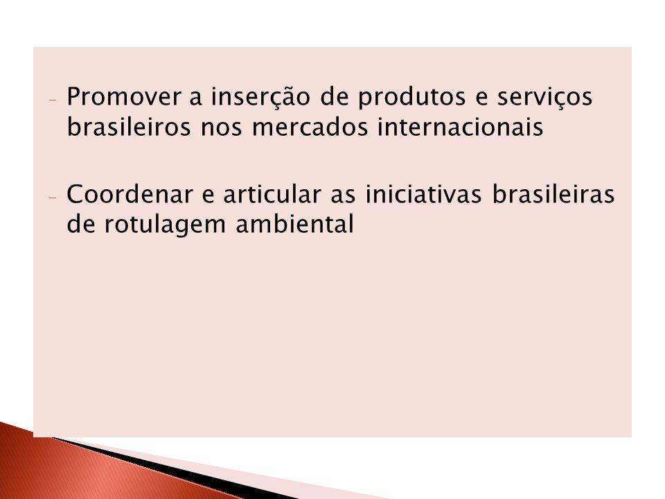 Promover a inserção de produtos e serviços brasileiros nos mercados internacionais
