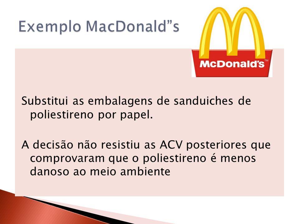 Exemplo MacDonald s