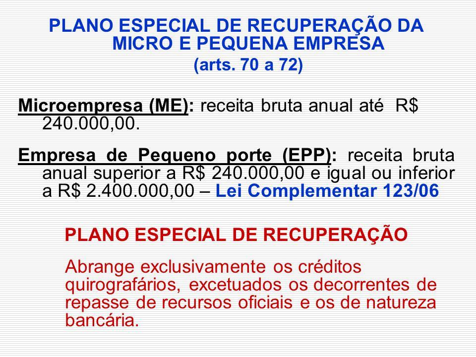 PLANO ESPECIAL DE RECUPERAÇÃO DA MICRO E PEQUENA EMPRESA