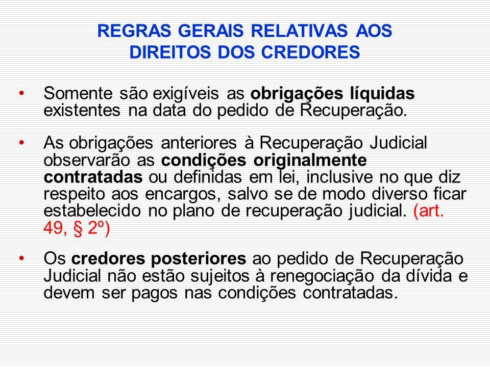 REGRAS GERAIS RELATIVAS AOS