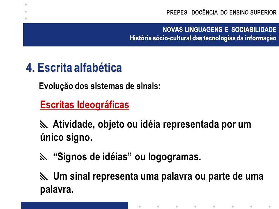 4. Escrita alfabética Escritas Ideográficas