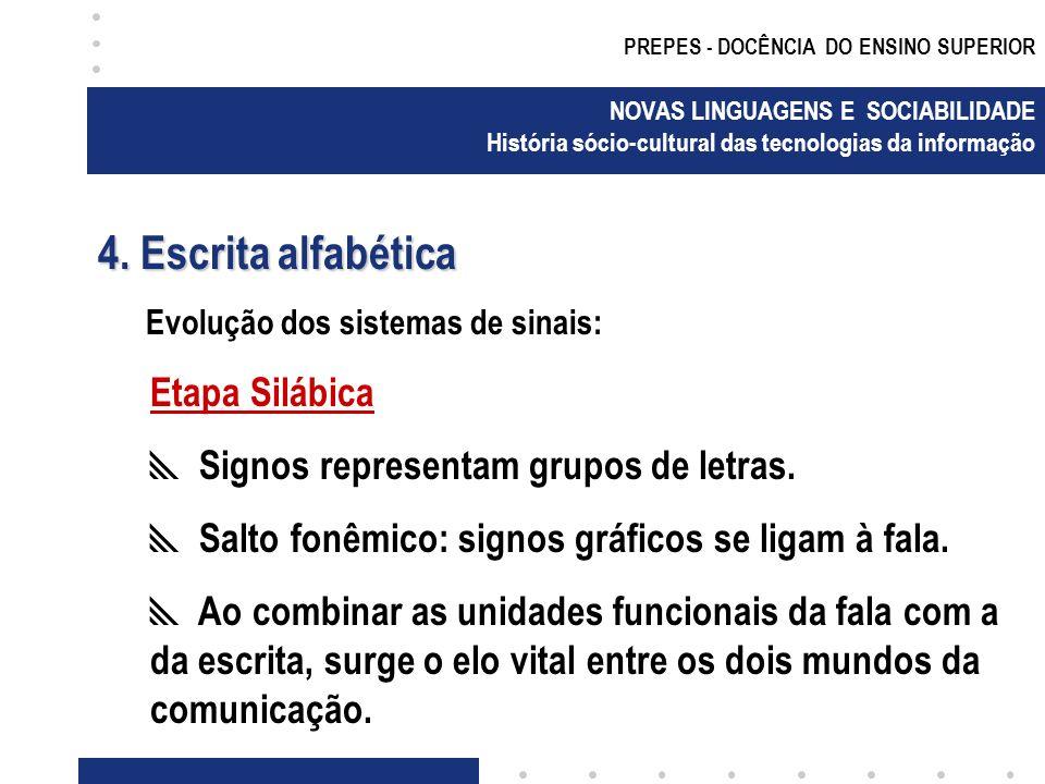 4. Escrita alfabética Etapa Silábica
