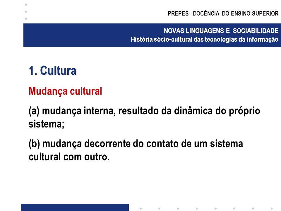 1. Cultura Mudança cultural