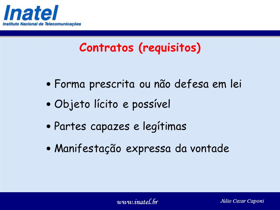 Contratos (requisitos)