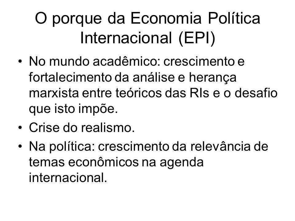 O porque da Economia Política Internacional (EPI)
