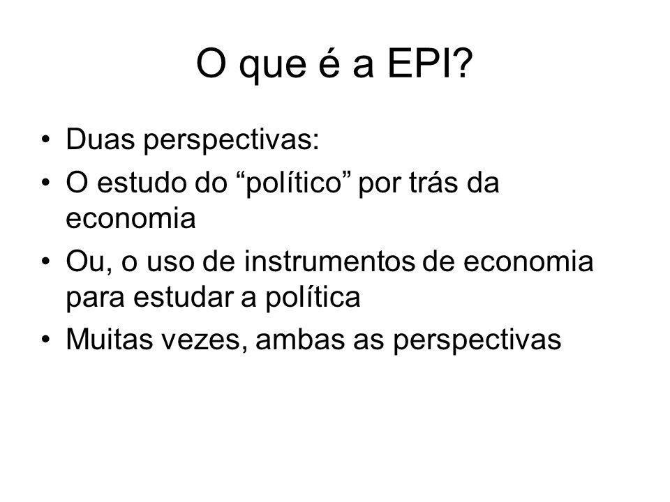 O que é a EPI Duas perspectivas: