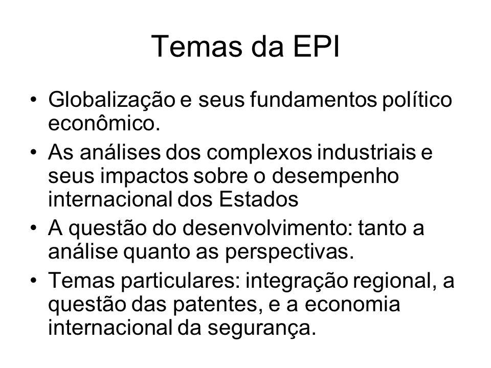 Temas da EPI Globalização e seus fundamentos político econômico.