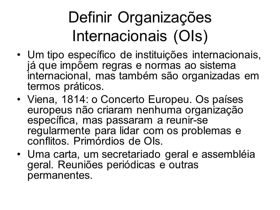Definir Organizações Internacionais (OIs)