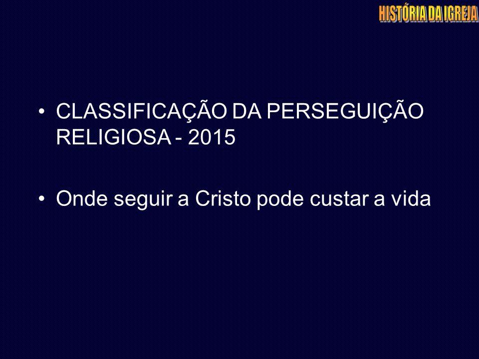 CLASSIFICAÇÃO DA PERSEGUIÇÃO RELIGIOSA - 2015