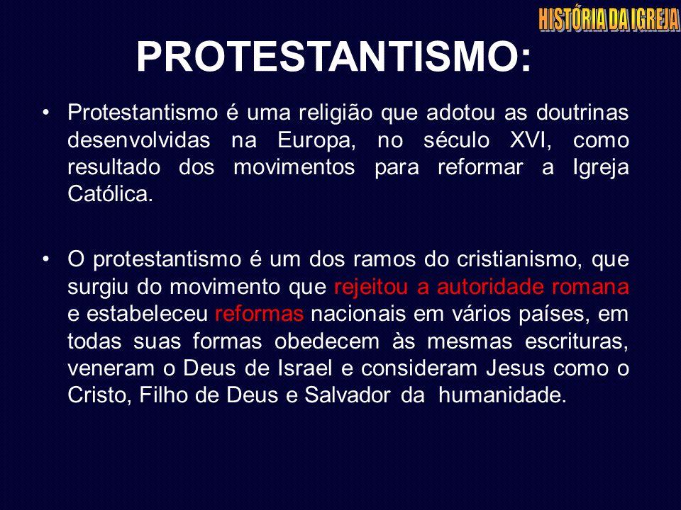 PROTESTANTISMO: