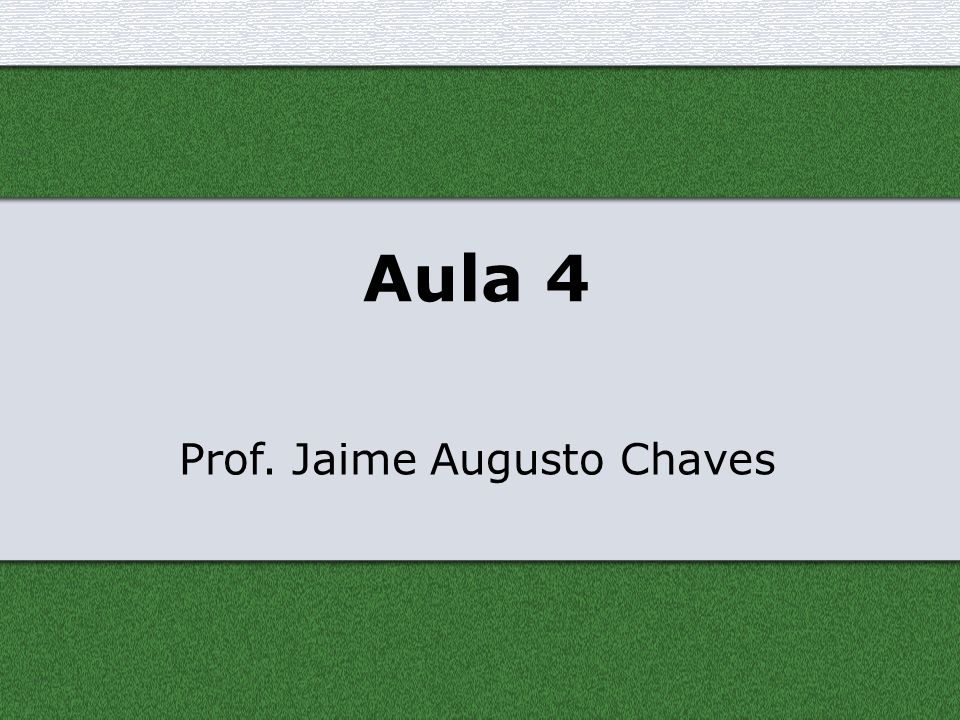 Prof. Jaime Augusto Chaves