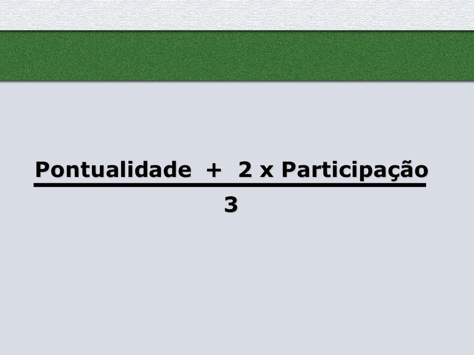 Pontualidade + 2 x Participação 3