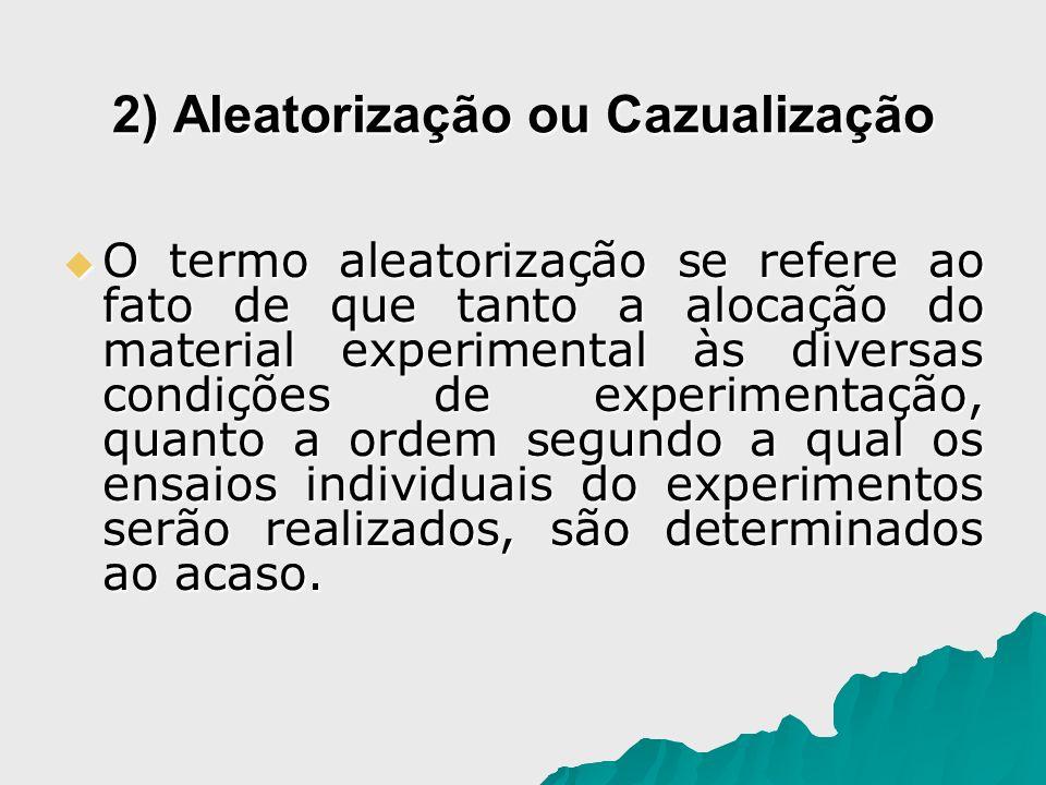 2) Aleatorização ou Cazualização